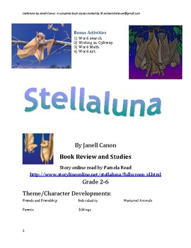 Stellaluna by Janell Canon Book Study