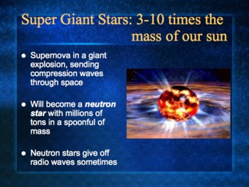 PowerPoint:  Stellar Evolution