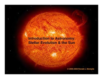 Stellar Evolution & the Sun