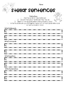 Stellar Sentences