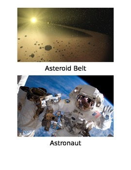 Stellar Space Vocabulary Large Word Cards