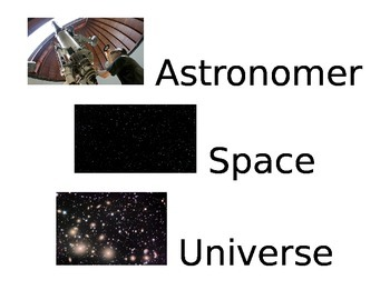Stellar Space Vocabulary Small Word Cards