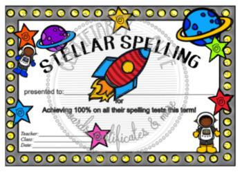 Stellar Spelling Award