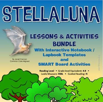 Stellauna Interactive Notebook Activities and SMART Board Activities Mega Bundle