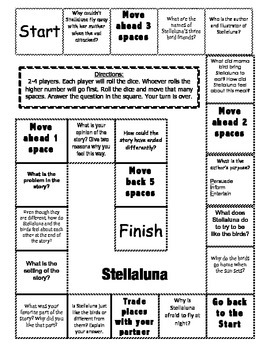 """Stelleluna"" Comprehension Game Board"
