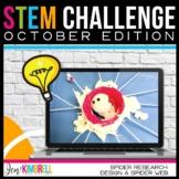 Stem Activities and Challenge Design a Spider Web Halloween Edition