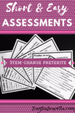 Stem-Change Preterite Assessment