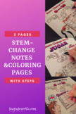 Stem-Change Verbs Notes & Coloring Pages (U>UE, O>UE, E>IE)