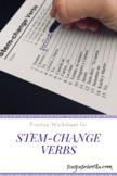 Stem-Change Verbs Practice