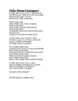 Stem Changers Song
