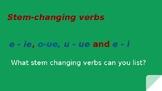 Stem-Changing/Boot Verbs