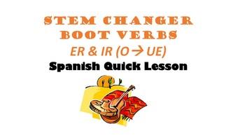 Stem-Changing ER, IR  Verbs (O-UE): Spanish Quick Lesson