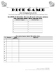 Stem-Changing (O, UE) Spanish Verb Conjugation Practice: Dice Game