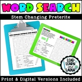 Stem Changing Preterite Word Search - Distance Learning