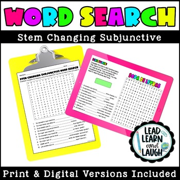 Stem Changing Subjunctive (Present Tense) Word Search