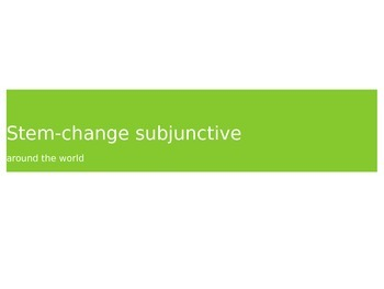 Stem-Changing Subjunctive Verb Drill