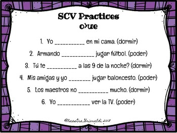 Stem Changing Verb-Notes and Practices