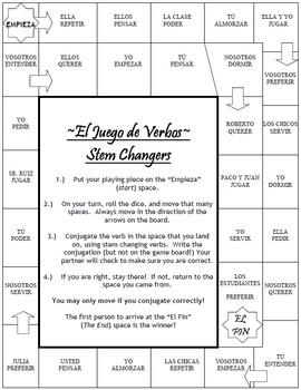 Stem Changing Verbs BUNDLE