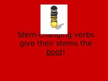 Stem-Changing Verbs Power Point