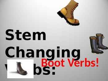 Stem Changing Verbs Ppt