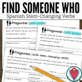 Stem Changing Verbs Spanish Speaking Activity - Find Someone Who