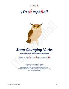 Stem-Changing Verbs
