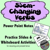 Stem Changing Verbs in Spanish PowerPoint and Whiteboard Activity