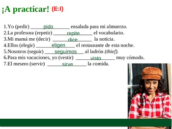 Stem-Changing Verbs in Spanish (Present Tense) Power Point Presentation