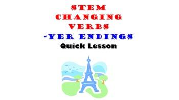 Payer, Envoyer, Nettoyer, Ennuyer (Stem Changing YER verbs