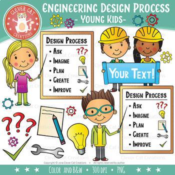 Stem Engineering Design Process Clip Art