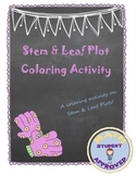 Stem & Leaf Data Fun, Engaging Coloring Sheet/Activity