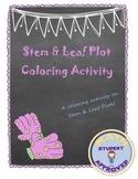 Stem & Leaf Data Fun, Engaging Coloring Sheet/Activity