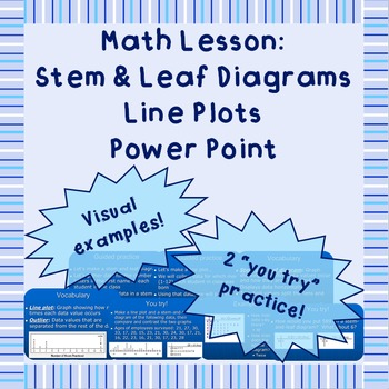 Stem & Leaf Diagrams and Line Plots - A Power Point Lesson