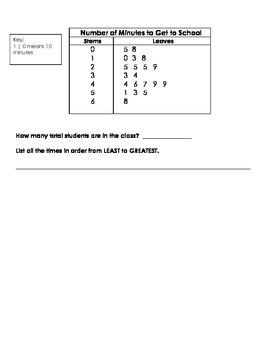 Stem & Leaf Plot Guided Notes