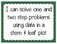 Stem & Leaf Plot Problem Solving Interactive Notebook & Quick Check TEKS 4.9B