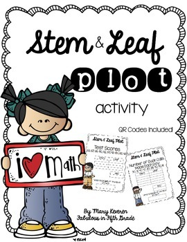 Stem & Leaf Statistics Activity (QR Codes Included!)
