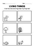 Stem Living Things Tree Worksheet
