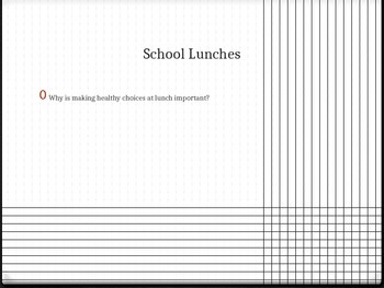 Stem Project: School Lunches