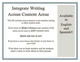 Stem Sentence Bookmarks (Eng/Spn) (Integrate Writing!)