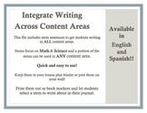 Stem Sentence Bookmarks (Eng/Spn) (Integrate Writing!)