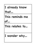 Stem Sentence Starters Elementary