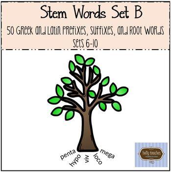 Stem Words Set B