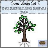 Stem Words Set E