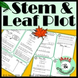 Stem and Leaf Plot Self Guided Practice Distance Learning