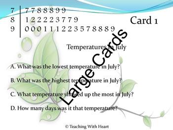 Stem and Leaf Plot Activity - Center Activity - Task Cards - Daily Problem