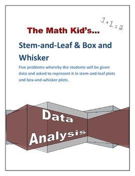 Stem and Leaf Plot & Box and Whisker Plot Worksheet