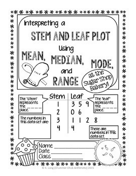 Stem and Leaf Plot Bundle