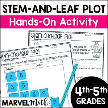 Stem and Leaf Plot Cut & Paste TEKS: 4.9A, 4.9B, 5.9A, 5.9C
