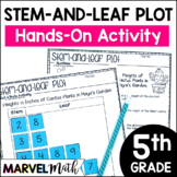 Stem and Leaf Plot Cut & Paste TEKS: 4.9A, 4.9B, 5.9A, 5.9C