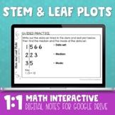 Stem and Leaf Plot Digital Math Notes